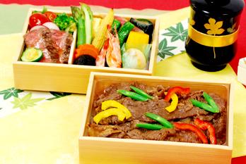 和田金旬彩牛肉ごはん弁当